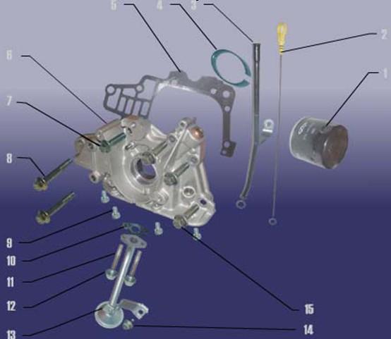 lubrication device parts catalogue for joyner 800cc SQR372